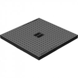 Крышка для дождеприемника gidrolica point дп-40.40 кл. А15 пластиковая