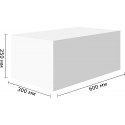 Стеновые блоки D300, 600x250x300