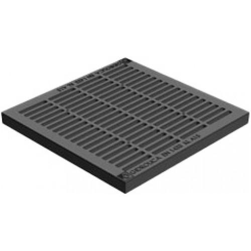 Решетка водоприемная gidrolica point рв-28,5.28,5 кл. А15 пластиковая